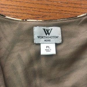 Worthington Tops - Worthington jungle print blouse